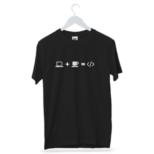 System Plus Coffee Is Equal To Coffee T-Shirt   Funny Coding & Programming T-Shirt