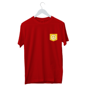 Happy Face on Pocket Colorful Designed T-Shirt | Buy Happy Face on Pocket Colorful T-Shirt online in India